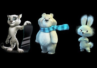 3 Mascots of the Olympic Games in Sochi  2014